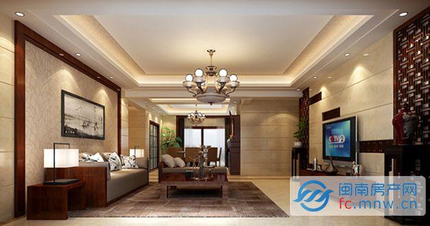整体设计以直线为主,营造出简洁干练的感觉。而通过不同材质在家装中的运用,以及对细节的雕琢,该设计又显得层次分明不死板,并且很好地展示出中式风格家装独有的细腻感。最终呈现出来的,是一个有机结合了东西美学的理想居所。