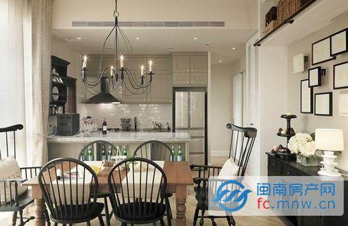 法式设计 打造清新单身公寓     72平米法式单身女子公寓,空间挑高 3