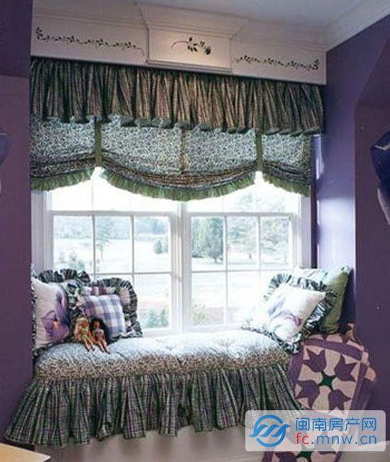 欧式飘窗窗帘设计 打造私人小角落