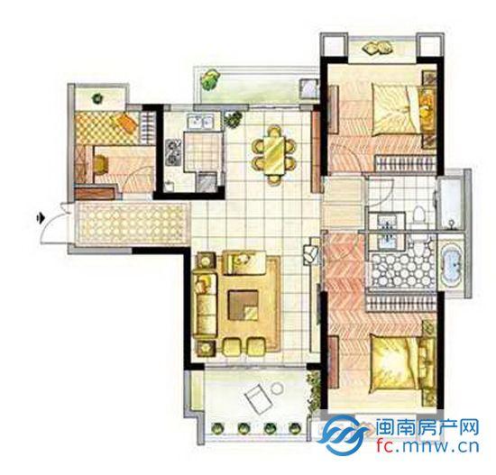 如东海湾·十二宴推出363套房源,其中户型89㎡三房两厅双阳台及