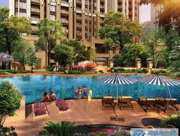 泰禾首玺的景观泳池