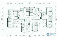 2#楼标准层平面