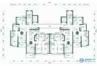 1#楼标准层平面图