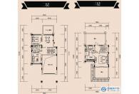 别墅B2-2户型二层三层(25#,29#-39#,50#)