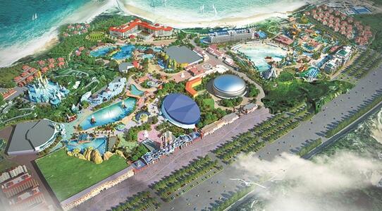 八仙过海大型文化旅游项目一期设计鸟瞰图