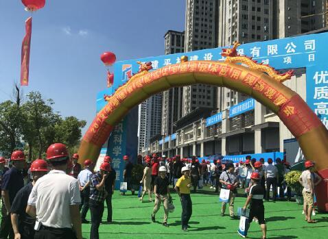泉州装配式建筑兴起 石狮龙湖春江郦城举办现场观摩会